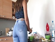 Brunette Teen Tight Jeans Breakfast Time! Fucking Whore Who Expo
