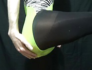 Mrleotard - Green Leotard With Panties And Pantyhose 1