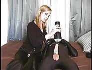 Blonde Handjob With Toys