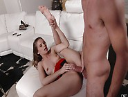 A Little Foot Teasing Inspires Him To Fuck Her Cunt