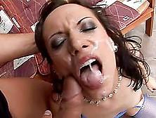 Brunette Slut Liza Enjoys Ardent Anal Sex With Three Guys