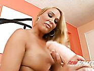 Well Shaped Slutty Blondie Mellanie Monroe Adores Hard Solo