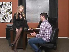 Awesome Darcy Tyler Has Bumped By Her Employee In Her Office