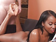 Fucking And Jizzing Ebony Soles