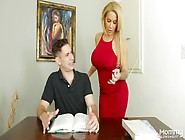 Whore Wife Alyssa Lynn Seduces Stepson And Takes Cum On Her Jugs