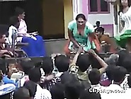 Local Indian Girls From Andhra Pradesh Dancing Vulgar On Stage V