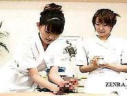 Subtitled Cfnm Japanese Penis Salon Vacuum Handjob Care