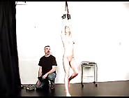 Young Blond Is Hung By Her Wrists And Brutaly Whiped