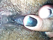 Amateur Bitch Fingers Her Black Hairy Pussy In Close Up Clip