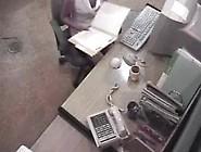 Hidden Security Spy Cam Caught Office Girl Masturbating