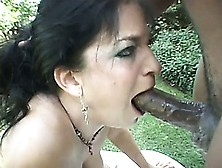 image Slut displays throat work on bbc