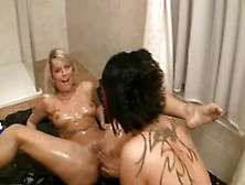 Hot German Milf Gets Double Fisted