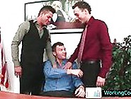 Kirk Having Hot Gay Sex Threesome At Office