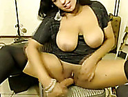 Exotic Dark Skin Milf Bitch On Webcam Flashes Her Big Hooters