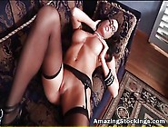 Sexy Milf With Glasses Dressen In Lingerie And Stockings Blo