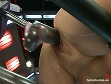 4Tube. Com. Haylee Le Getting Totally Doggy Fucked By Machine 4Tub