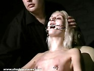 Tongue Torture And Tit Pain For Skinny Blonde