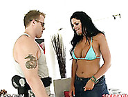 Super Busty Brunette With Big Ass Angela Aspen Gives Awesome Blo