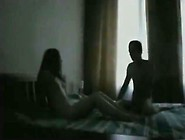 She's Such A Bad Girl.  Girl Fucks Her Bf On Her Parents' Bed.