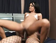 Sexy Slim Ebony Beauty Working Her Hungry Snatch On A Strap-On D