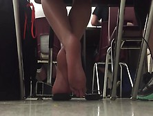 Candid Dirty Soles In Flip Flop