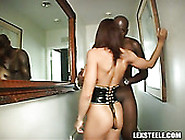 Mega Busty Ginger Sex Doll Performs Solid Bj To Black Kinky Guy