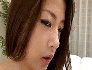 Sexy Doll Satomi Suzuki Sucks Dick Until He Cums On Her Boobs