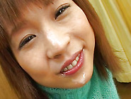 Cute Asian Smiles As She Gets Hot Facial