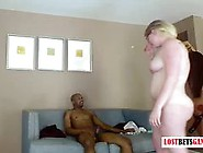 Blonde Babe Loosing A Bet