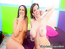 Horny Pornstars Sara Jay,  Kylie Kalvetti In Fabulous Cumshots,  D