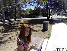 Redhead Teen Interracially Plowed From Behind