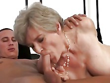 Blondy Pretty Granny With Saggy Tits & Flabby Body