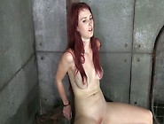 This Naughty Redhead With Pierced Nipples Is Getting Punished Ni