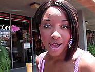 Interracial Fuck For This Young Ebony Slut Outdoors