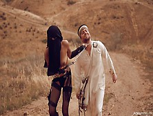 Arabian Mistress Dominates Captured Stud With Lusty Cock Riding
