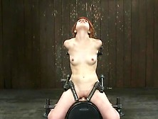 Short-Haired Scarlet Head Juliette March Taken To Cumming By Syb