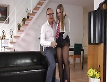 Fetching Dusky Youthful Harlot Alessandra Jane Allows Guy To Cum