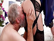 Hot Teen And A Dirty Milf Are Fucking An Old Man Who Needs Sex R