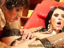 Eileen Sue With Bukkake Lesbians