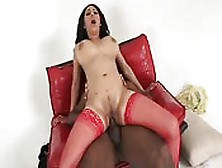 Beautiful Brunette Fucked By Black Guy With Huge Dick