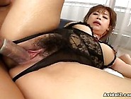 Dirty Minded Asian Babe Wears Black Underwears While She Got Fuc