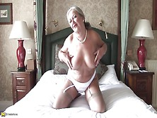 Naughty Lady April Is Playing On Couch