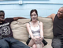 Beautiful Krystal Jordan Has An Interracial Threesome