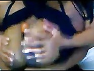 Ebony Lesbians Teasing Each Other On Webcam