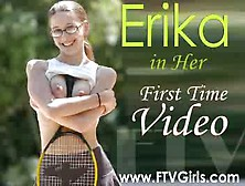 Erika - Tennis Outfit - Masterbate On Bed