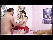 Brunette Cheerleader Fucks Her Stepdad