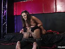 Penny Flame Lets Her Slave Strap Her Dildo On Preparing For Femd