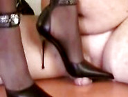 Mistress Tugce Doing Heeljob And Heel Insertion On A Slave With