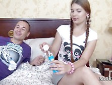 Petite Sister Get Her First Fuck By Big Dick Step-Brother