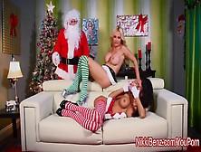 Nikki Benz,  Jessica Jaymes %26 Amy Anderssen Fuck Santa!